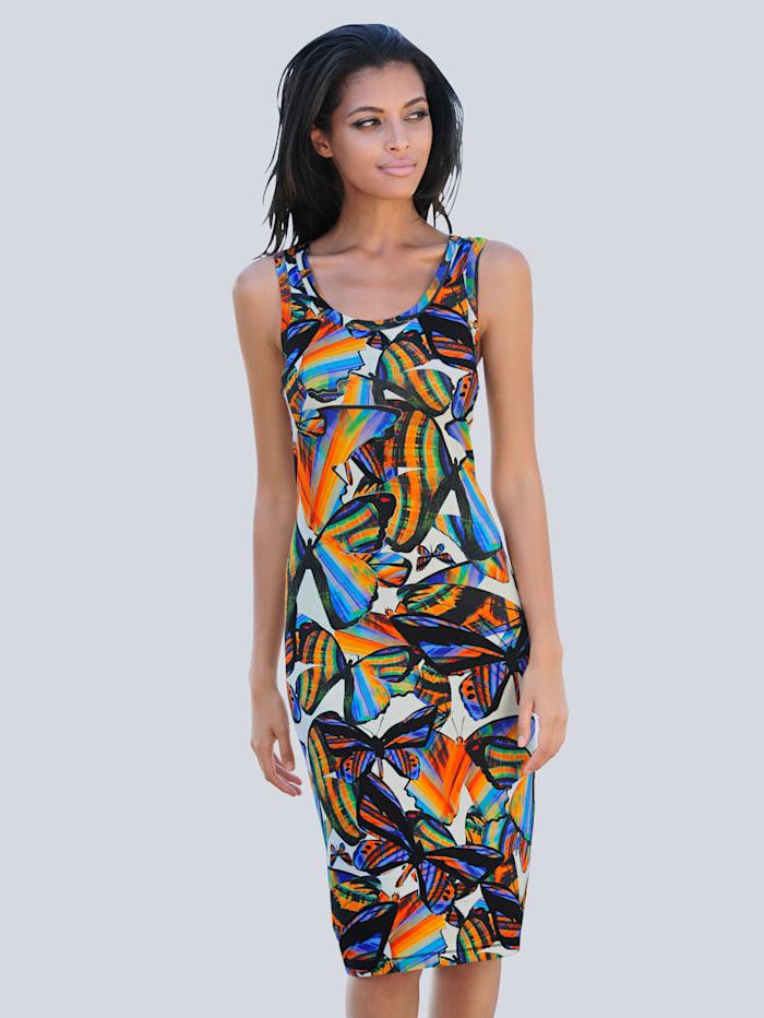 Alba Moda Strandkleid mit sommerlichem Druck, bunt