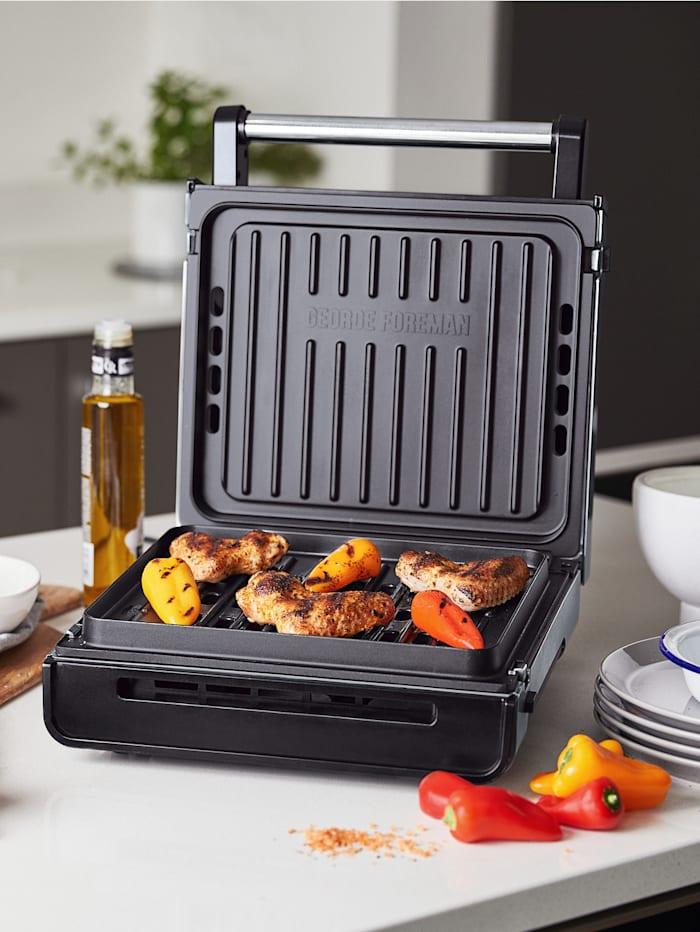 George Foreman Barbecue sans fumée Smokeless, Coloris argenté/métallisé