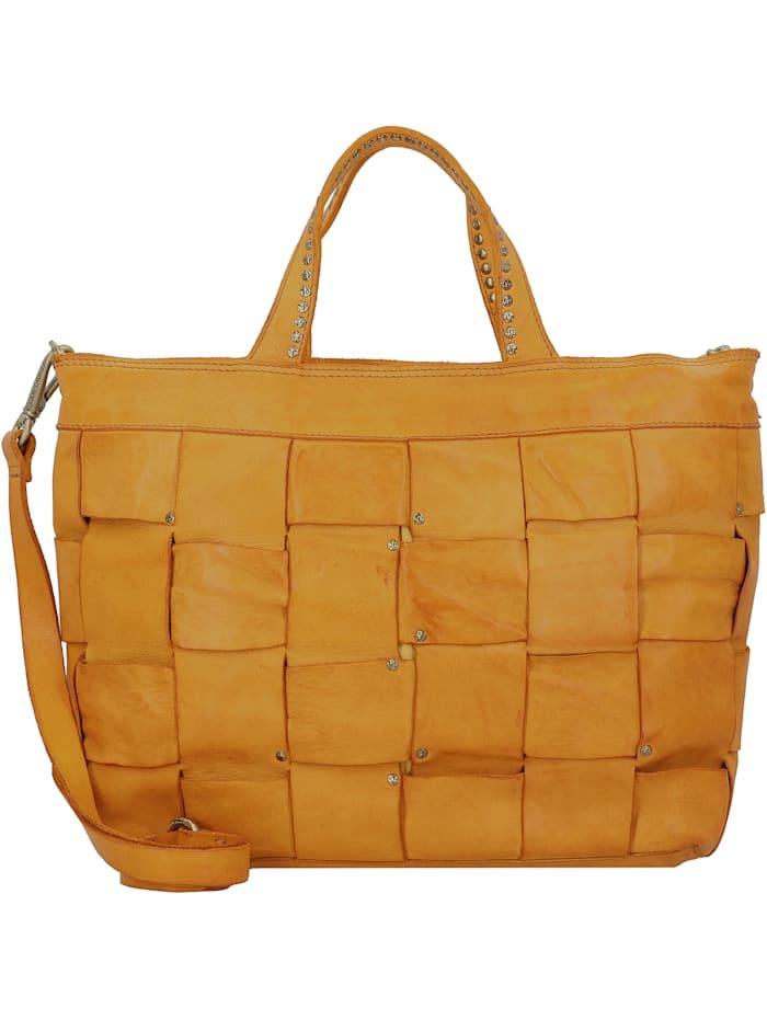 Campomaggi Handtasche Leder 30 cm, giallo