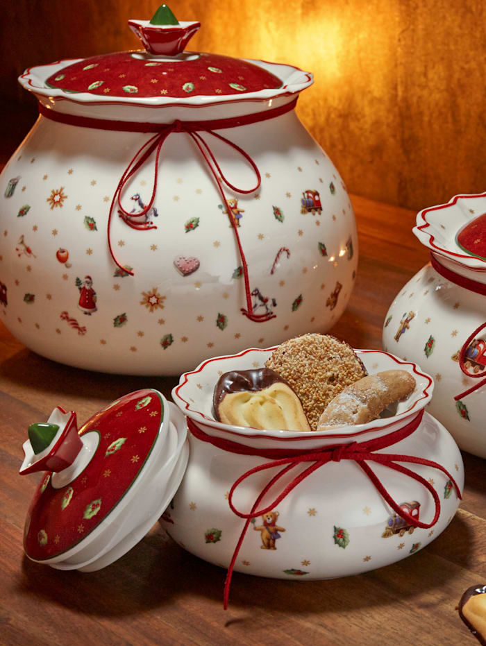 Villeroy & Boch Kakeboks, hvit/rød