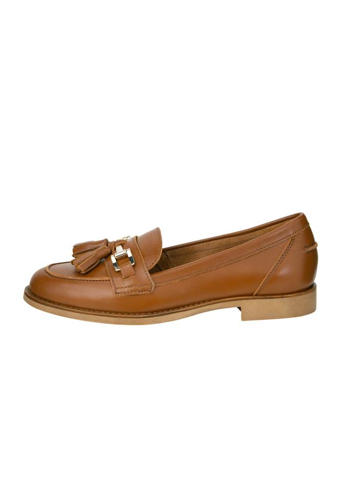Loafer mit zieren Leder-Quasten