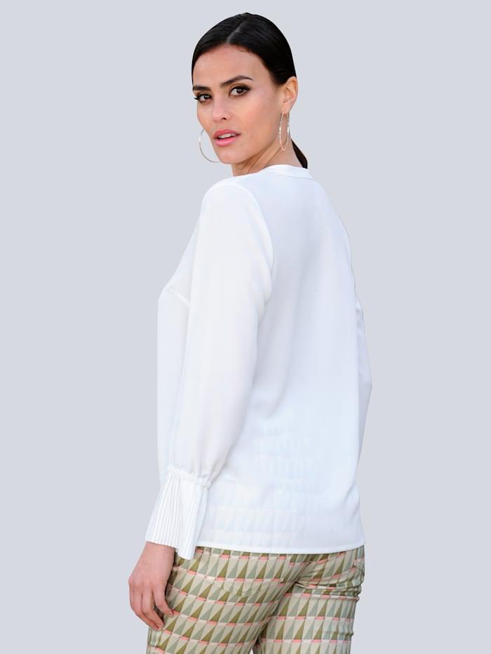 Bluse mit plissiertem Armabschluss