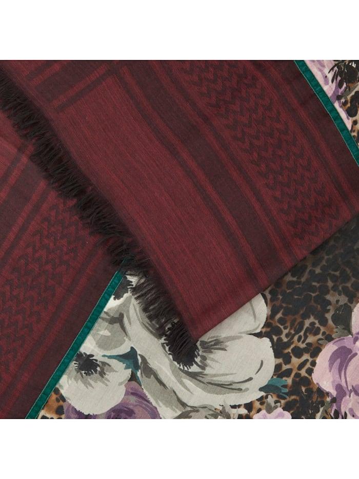 Premium XL-Schal aus Wolle und Modal