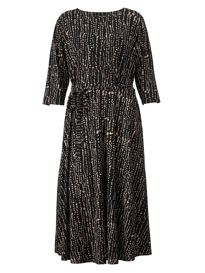 Maxi-jurk met minimaldessin