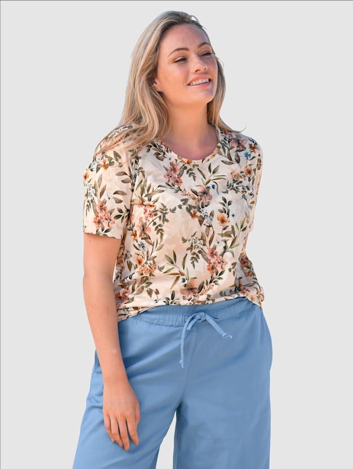 basically you Shirt mit floralem Druck, Natur