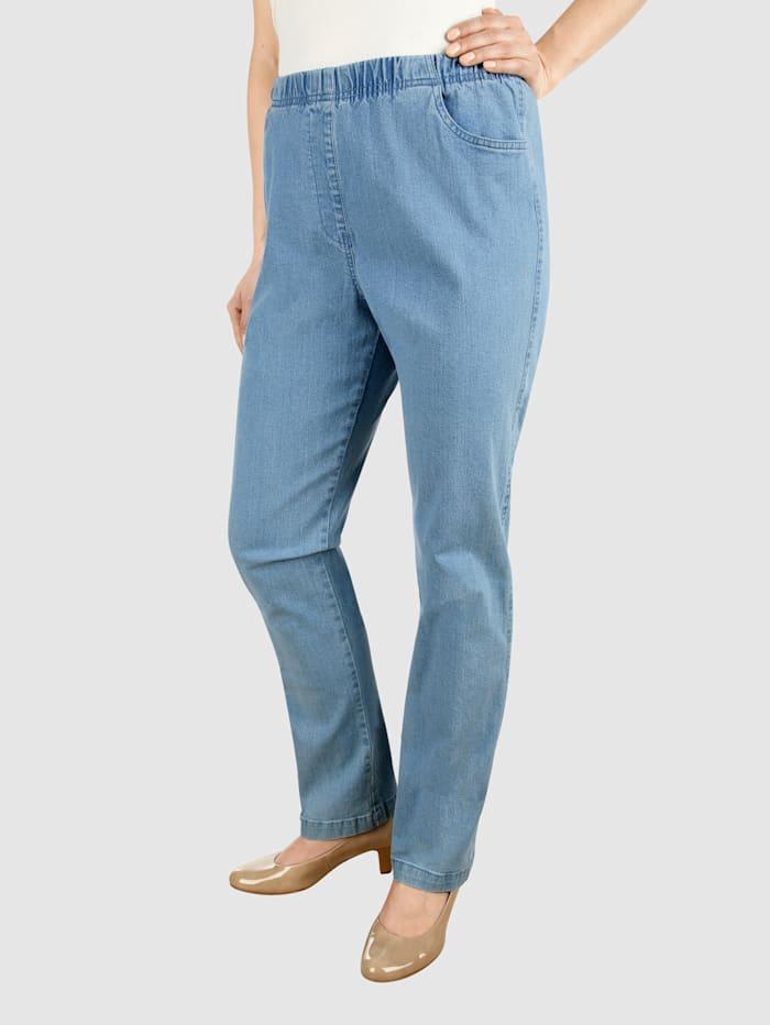 Paola Jeans in bequemer Schlupfform, Hellblau