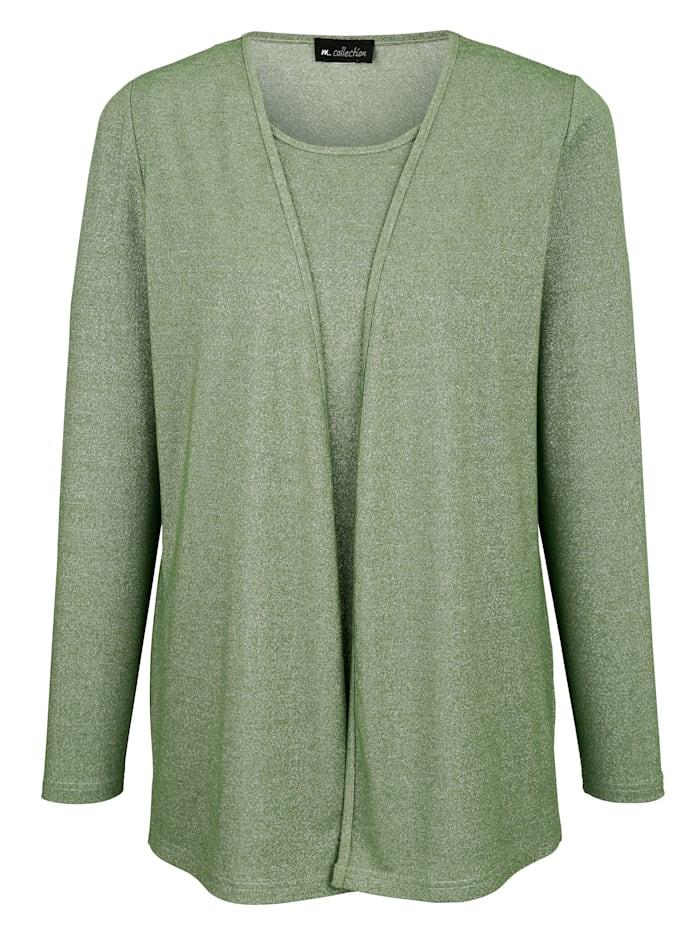 2-in-1 Shirt mit Glitzereffekt