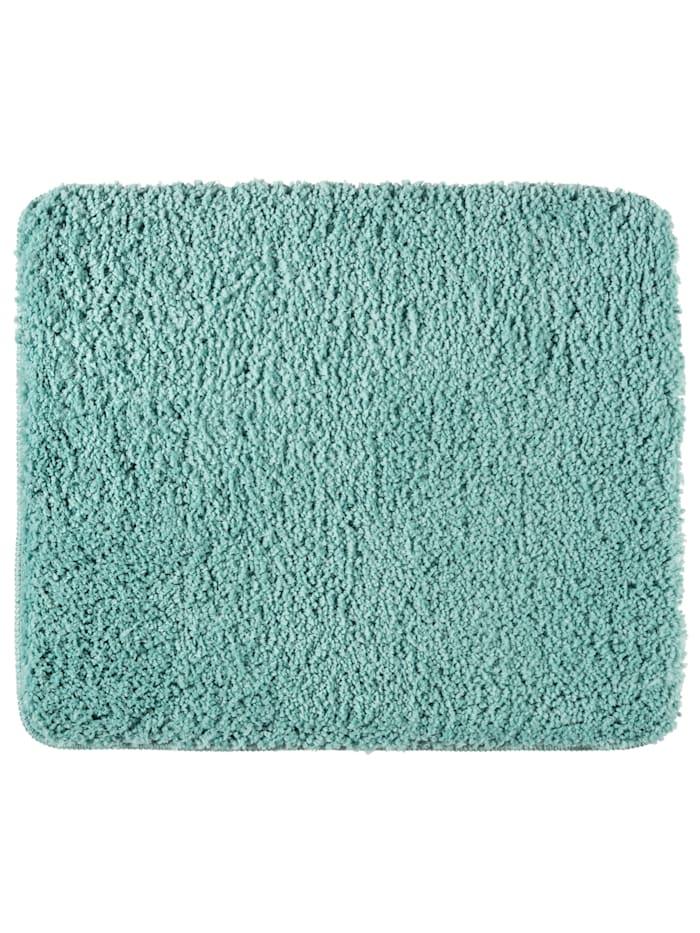 Wenko Badteppich Belize Turquoise, 55 x 65 cm, Mikrofaser, Polyester/Mikrofaser: Türkis