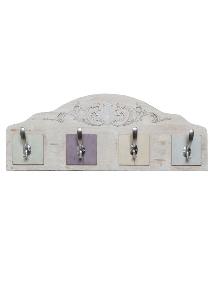 TopHome Garderobenpaneel Romantik, Weiß