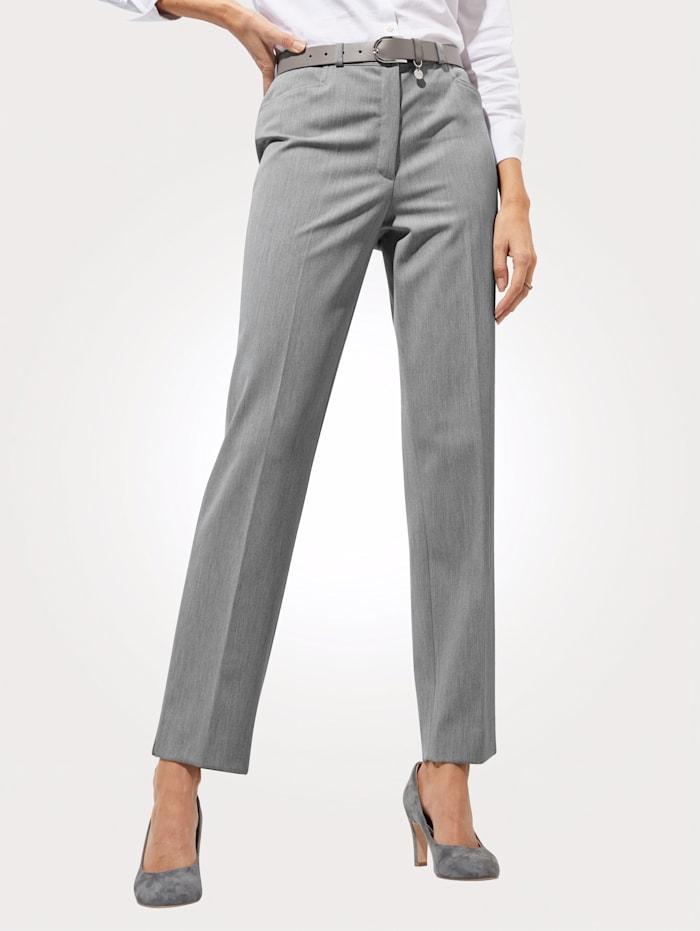 MONA Pantalon en matière stretch, Gris argenté