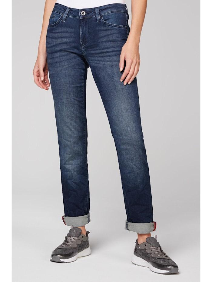 SOCCX Jeans RO:MY aus Sweatmaterial in Denim-Optik, dark blue jogg