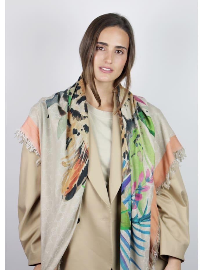 Premium Leo-Tuch aus Baumwolle und Modal
