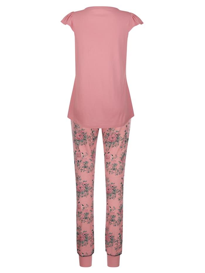 Pyjama met modieuze vleermuismouwen