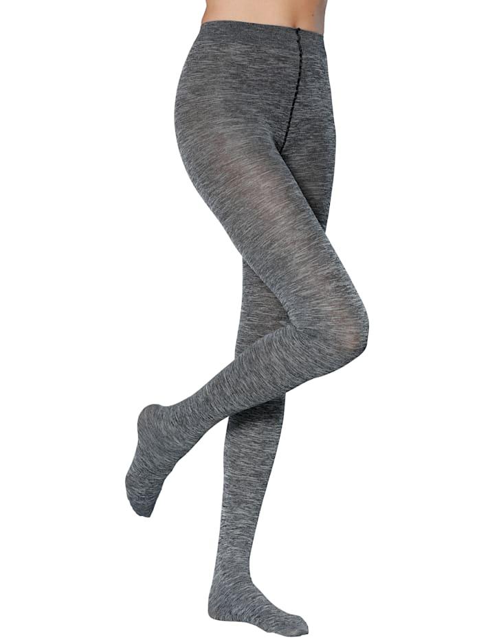 Esda Strømpebukser i melert materiale, 2x gråmelert