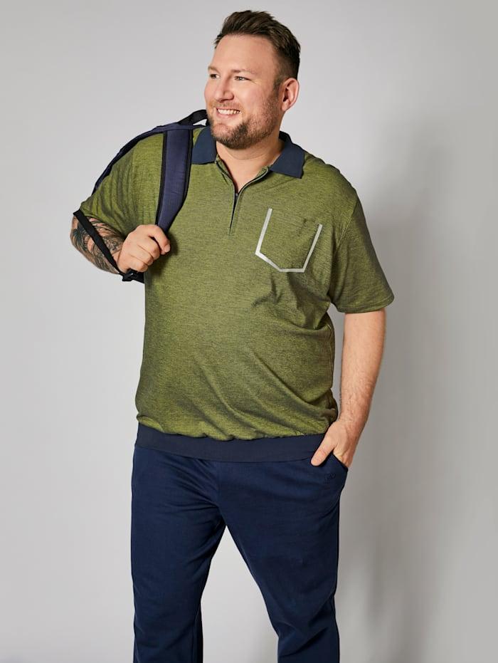 Men Plus Poloshirt met speciale pasvorm, Blauw