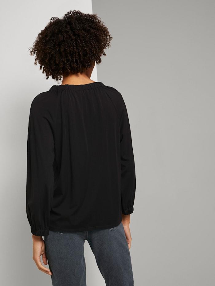 Blusenshirt mit elastischem Ärmelbund
