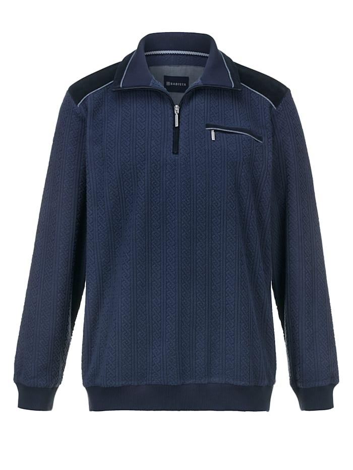 BABISTA T-shirt en polaire à finition légèrement texturée et douce, Bleu