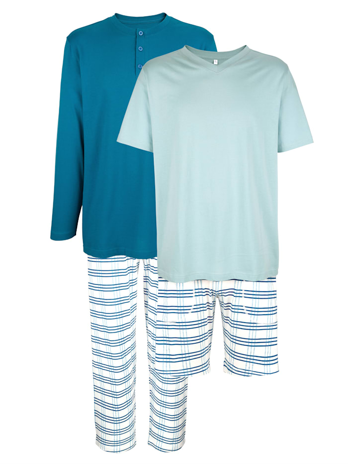 BABISTA T-shirts + pantalon + short de pyjama, Bleu ciel/Bleu