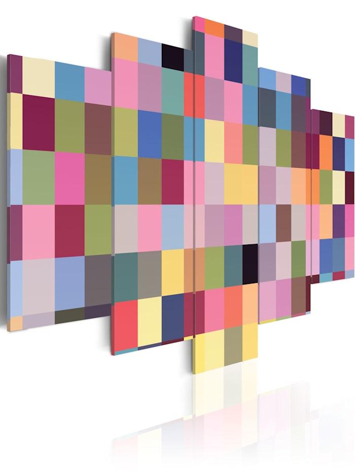 artgeist Wandbild Gallery of colors, mehrfarbig
