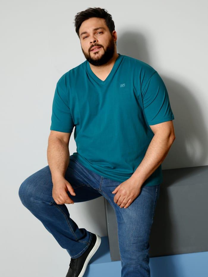 Men Plus V-Shirt ein Must-have, Petrol
