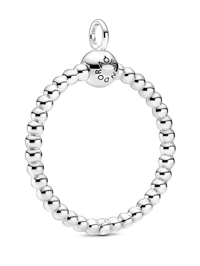 Pandora Kettenanhänger - Mittelgroßer Metallperlen O - 399106C00, Silberfarben
