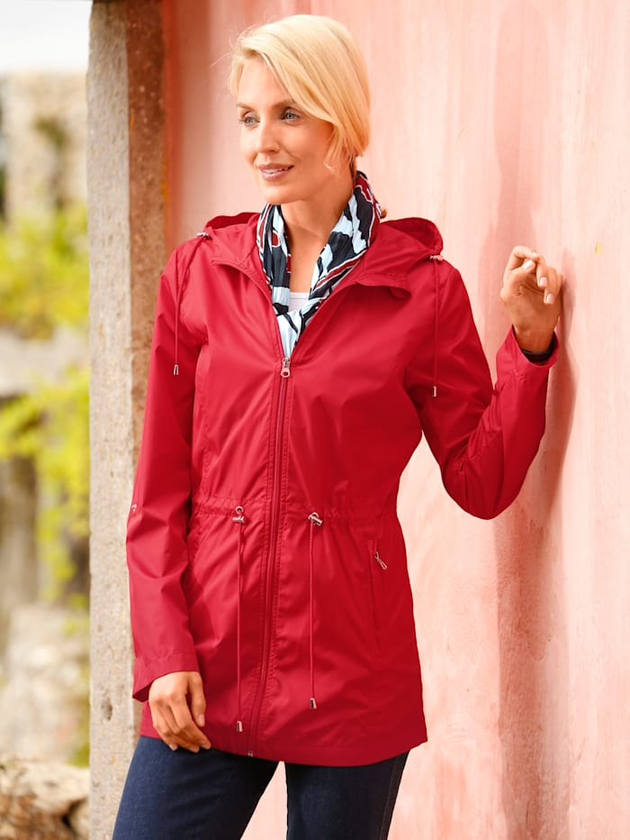 Paola Jacke mit Tunnelzug in der Taille, Rot
