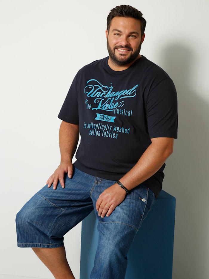 Men Plus T-Shirt Spezialschnitt, Marineblau