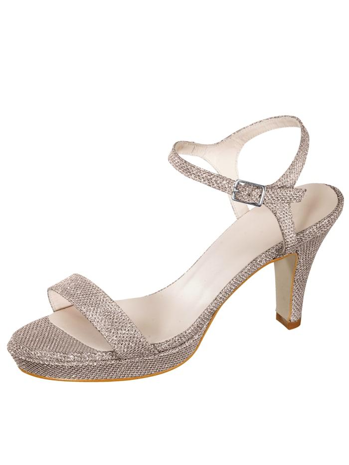 Sandaletter i glittrande material