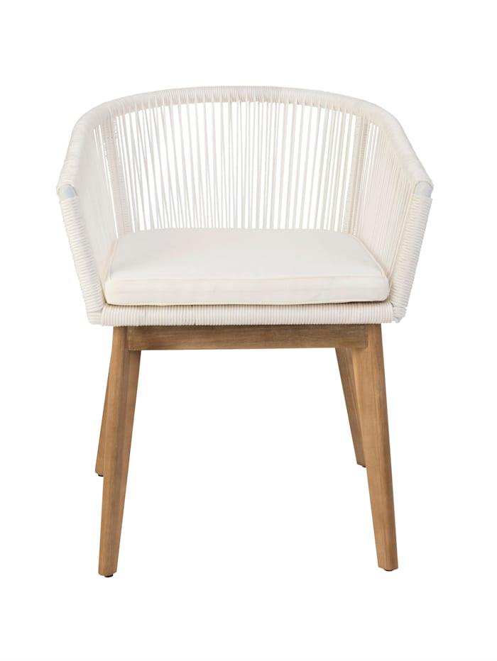 IMPRESSIONEN living Outdoor-Stuhl, weiß/natur