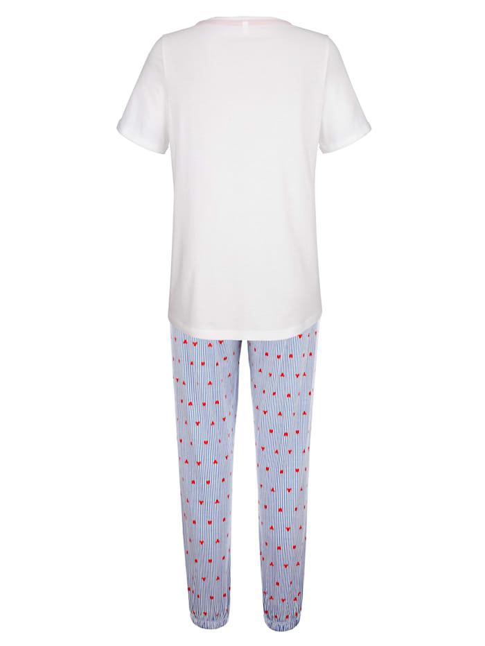 Schlafanzug mit modischen Ärmelaufschlägen