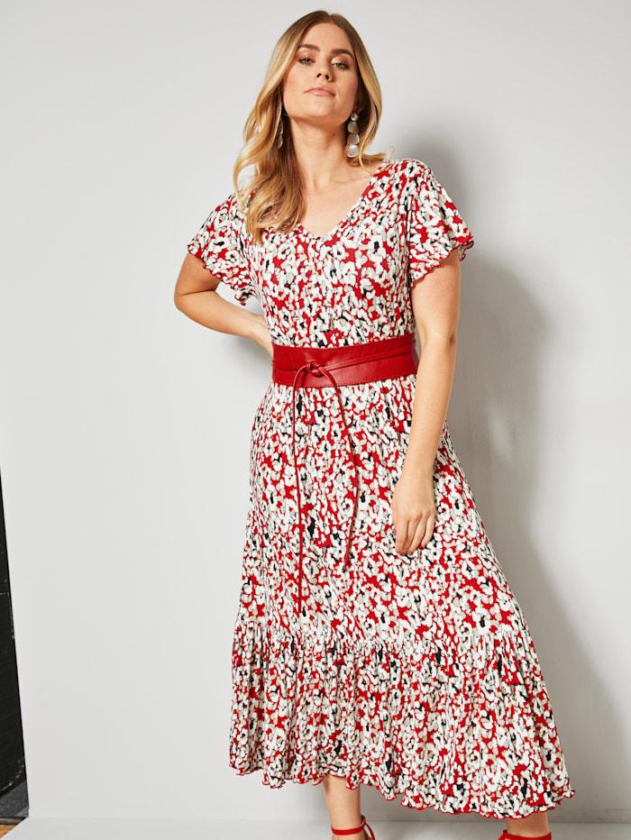 Jerseykleid mit grafischem Minimaldessin