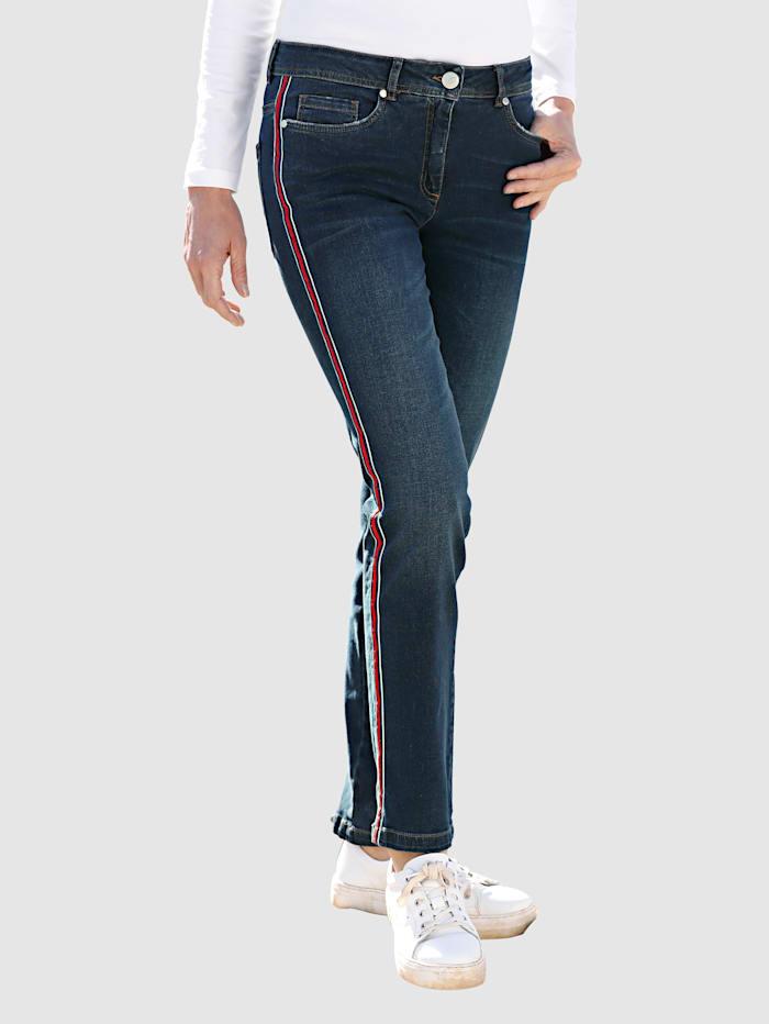 Dress In Jeans in Laura Slim model, Dark blue/Rood