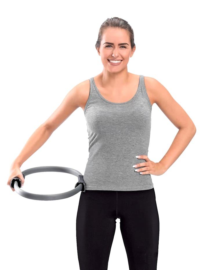Pilatesring för skonsam, allsidig träning, grå