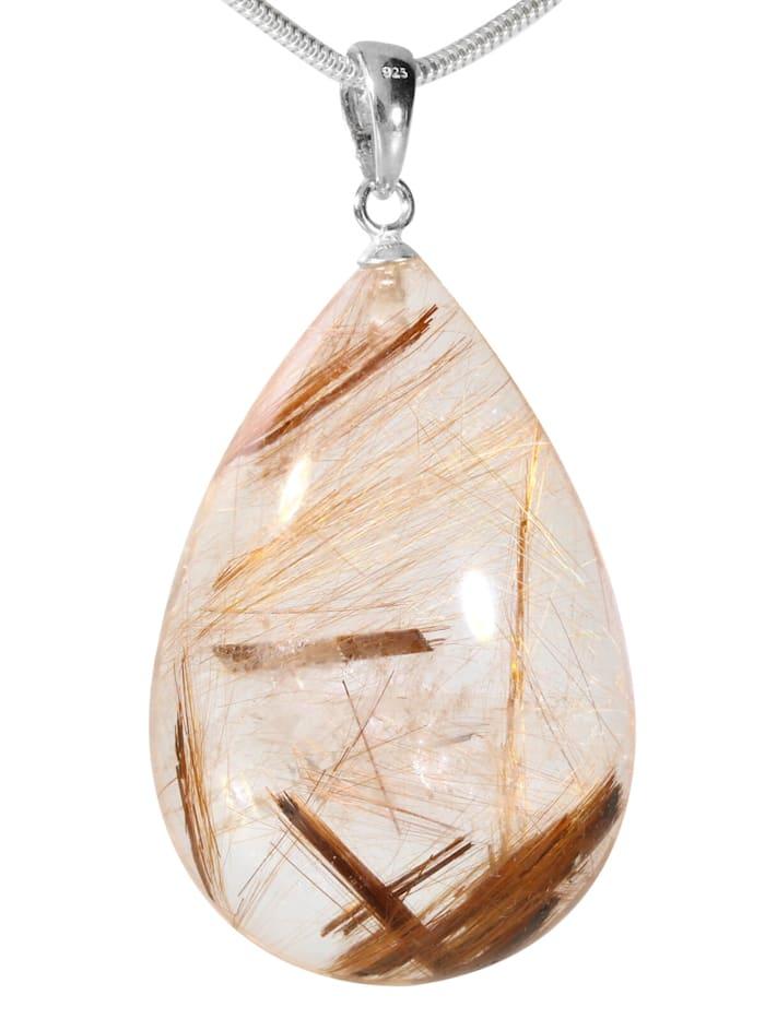 1001 Diamonds Damen Schmuck Edelstein Phantomquarz Anhänger 925 Silber bunt, bunt