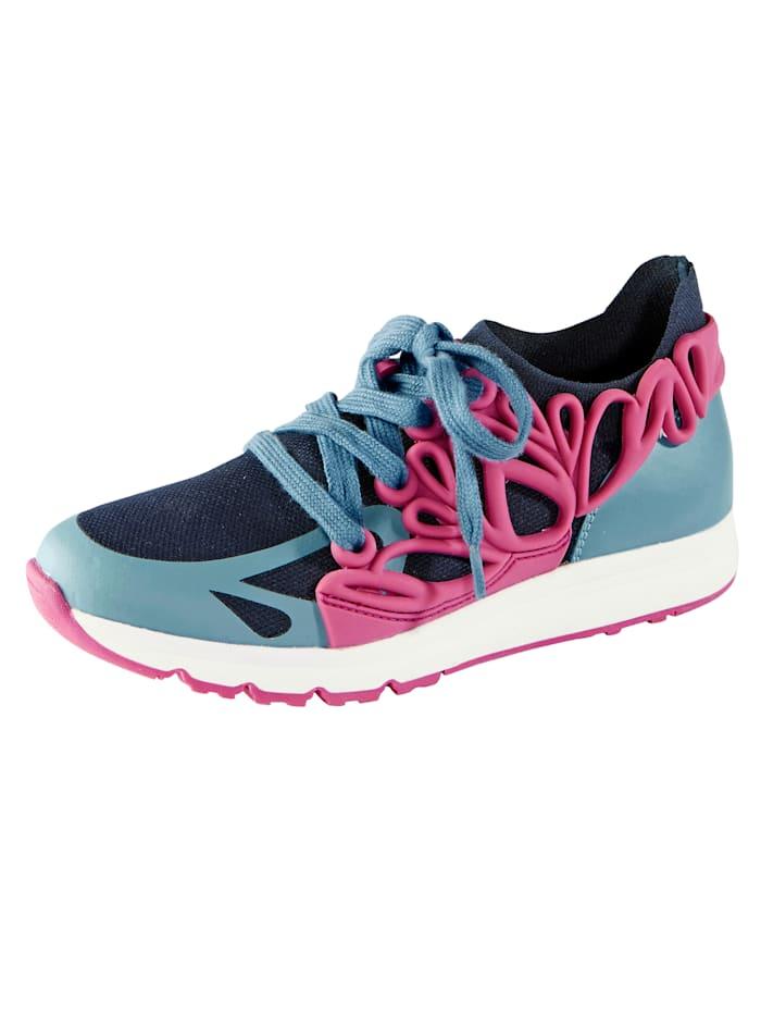 Liva Loop Sneaker met elastisch textiel, Blauw