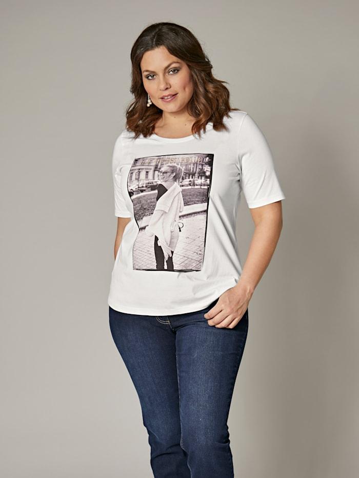 Shirt mit Fotoprint und Stickerei