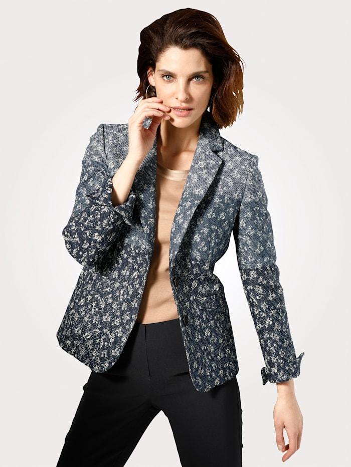 Jacket with floral jacquard detailing