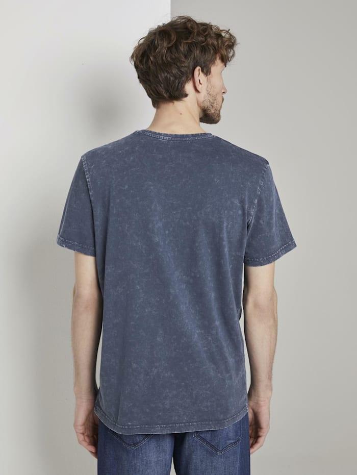 T-Shirt in Stone-Washed-Optik