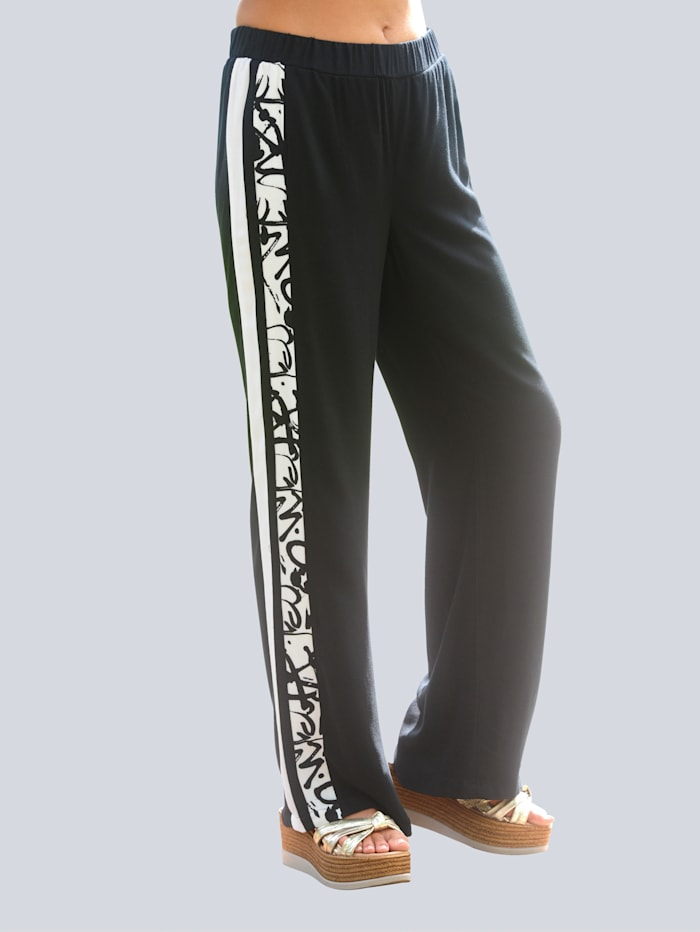 Alba Moda Strandhose im Jogpant-Style, Schwarz