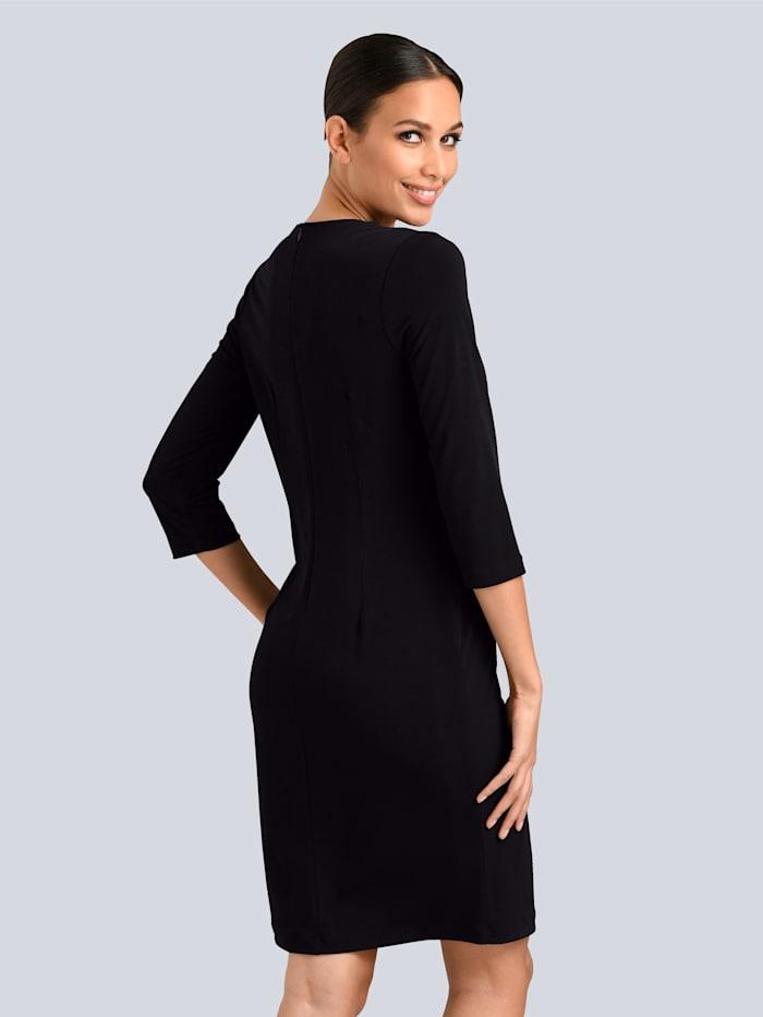 Kleid mit dekorativen Logo-Knöpfen vorne