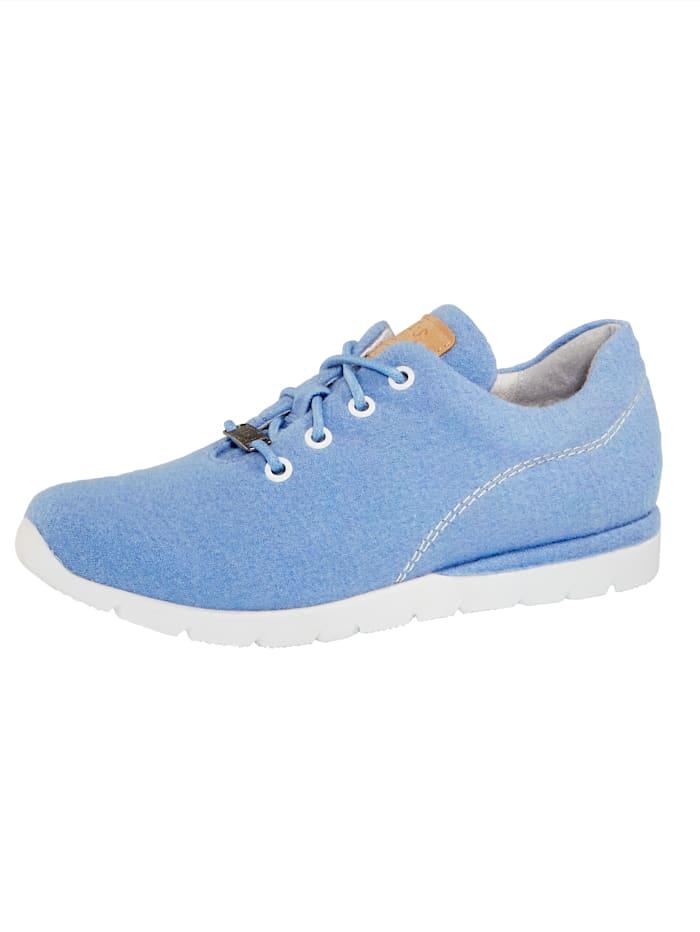 Jana Sneaker van hoogwaardige merinoswol, Blauw