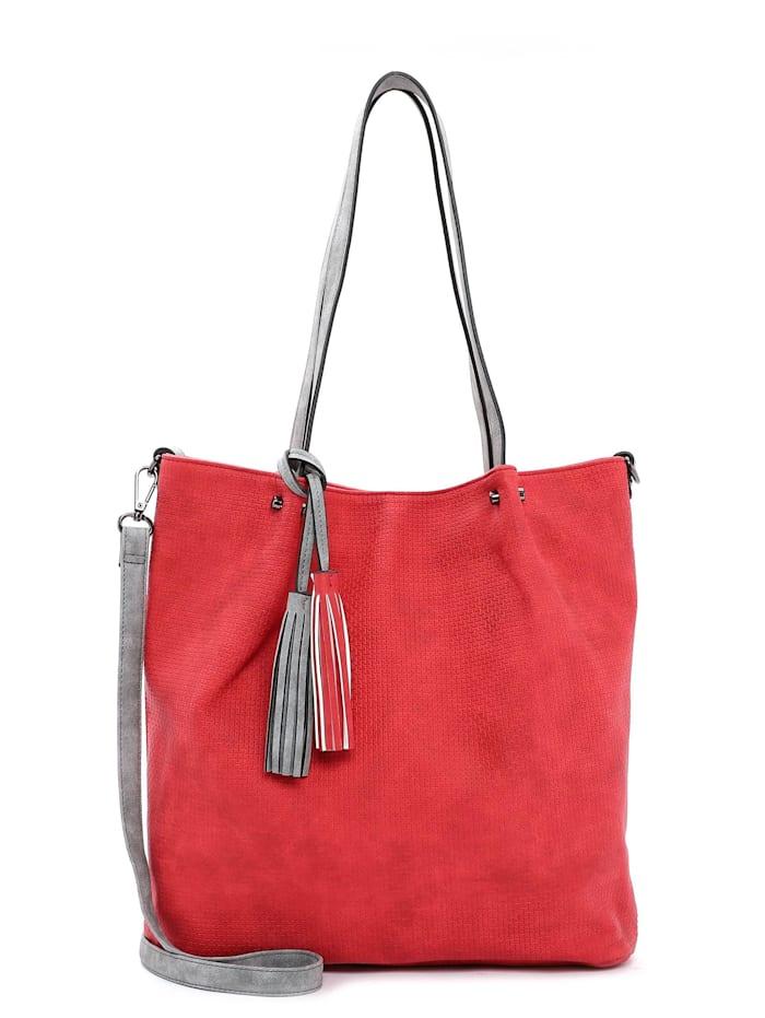 EMILY & NOAH Shopper Bag in Bag Surprise, red grey 608