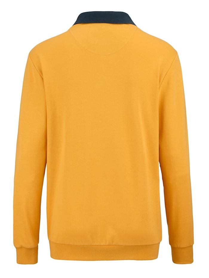 Sweatshirt met sportieve polokraag