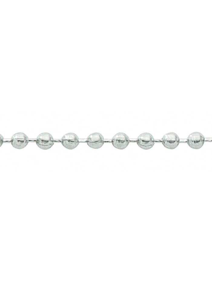 1001 Diamonds Damen Silberschmuck 925 Silber Kugel Halskette Ø 2 mm, silber