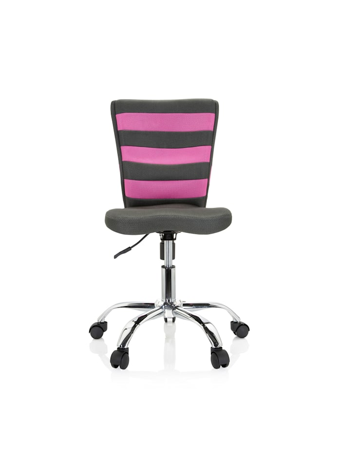 hjh OFFICE Kinderdrehstuhl KIDDY COMFORT I, Grau / Pink