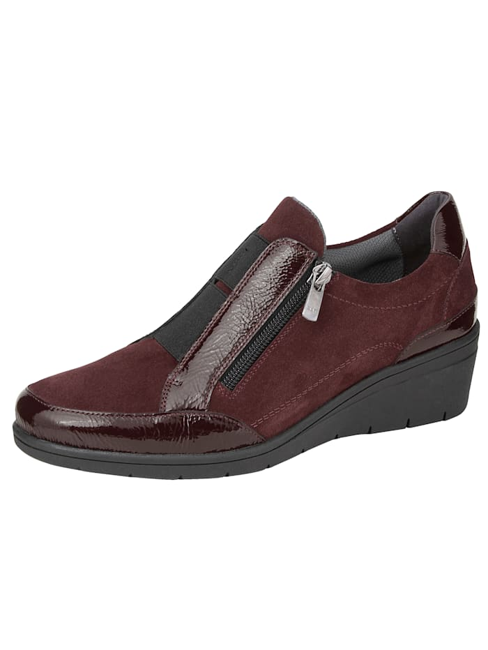 Naturläufer Slip-on shoes made from premium leather, Bordeaux