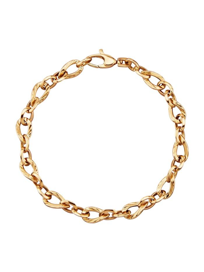 Amara Or Bracelet en or jaune 585, Coloris or jaune