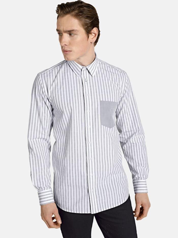 Shirtmaster Shirtmaster Hemd hellosailor, grau