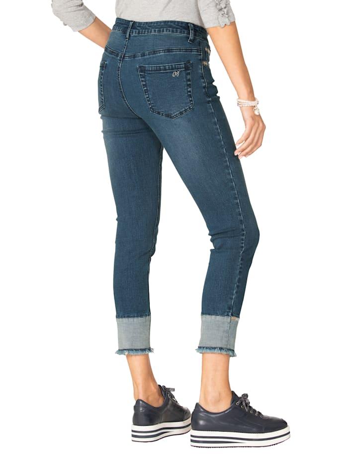 Jeans met sierborduursels
