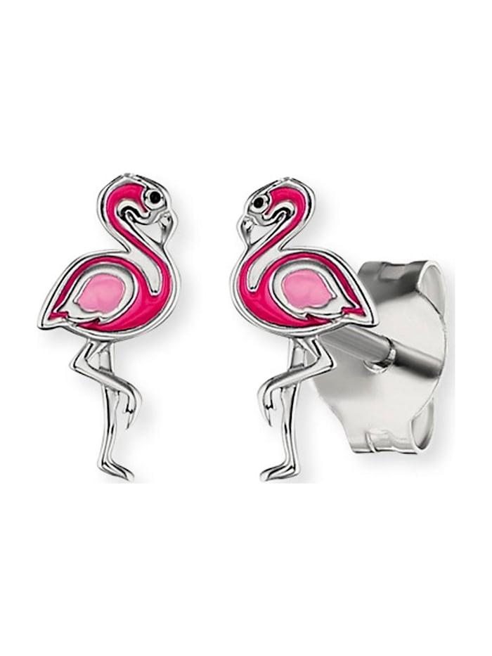 Engelsrufer Engelsrufer Mädchen-Kinderohrstecker Flamingo 925er Silber, silber